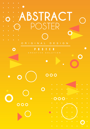 Abstract poster original design, creative solution placard template, trendy bright background for banner, invitation, flyer, cover, brochure vector Illustration, web design