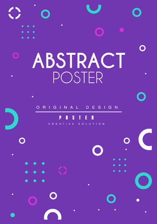 Abstract poster, bright creative graphic design for banner, invitation, flyer, cover, brochure vector Illustration
