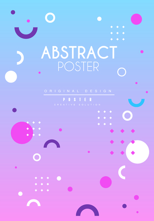 Abstract poster original, creative graphic design template for banner, invitation, flyer, cover, brochure vector Illustration, web design