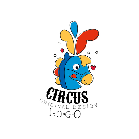 Circus original design, emblem for amusement park, festival, party, creative template of flyear, posters, cover, banner, invitation vector Illustration Illustration