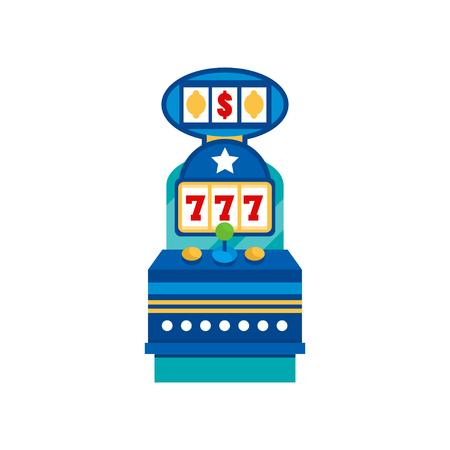 Retro casino slot machine vector Illustration isolated on a white background. Иллюстрация
