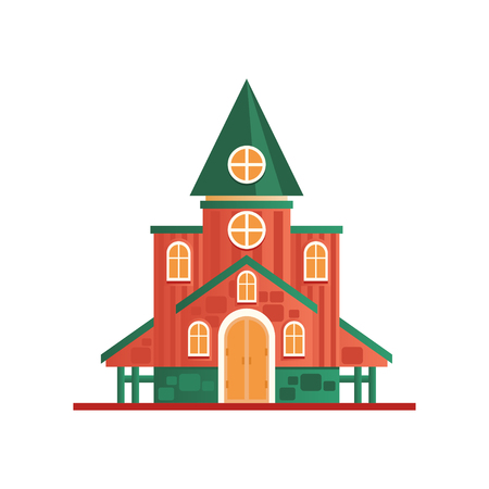 Church cuilding facade vector Illustration on a white background