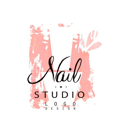 Nail studio  design, template for nail bar, manicure saloon, manicurist technician vector Illustration on a white background