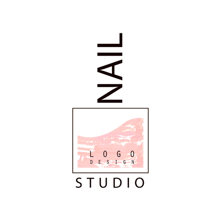 Nail studio, creative template for nail bar, manicure saloon, manicurist technician vector Illustration on a white background Illustration