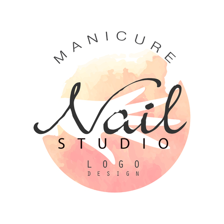 Manicure nail studio  design, template for nail bar, beauty saloon, manicurist technician vector Illustration on a white background