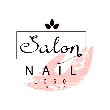 Nail salon  design, template for nail bar, beauty studio, manicurist technician vector Illustration on a white background