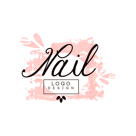 Nail  design, template for nail bar, manicure saloon, manicurist technician vector Illustration on a white background