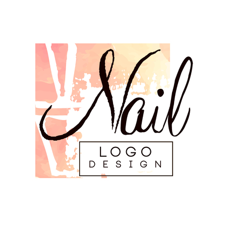 Nail  design, design element for nail bar, manicure studio, manicurist technician vector Illustration on a white background