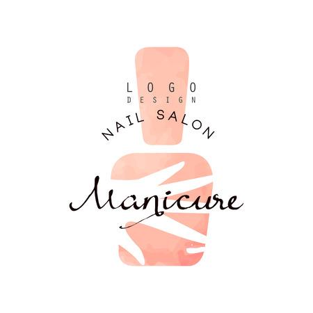 Salone per unghie manicure, elemento di design per nail bar, studio manicure, vettore di tecnico estetista illustrazione su sfondo bianco