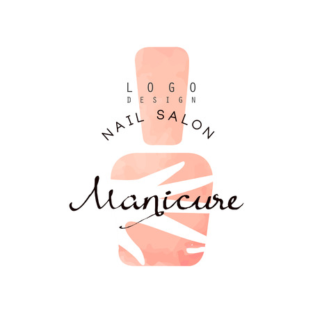 Manicure nail saloon, design element for nail bar, manicure studio, manicurist technician vector Illustration on a white background