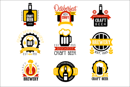 Craft Beer Set Of  Design Templates Reklamní fotografie - 107591067