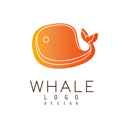 Whale design, emblem can be used for travel agency, shipping company, seafood market, pool vector Illustration on a white background Illustration