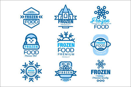 Frozen food premium product set of   templates hand drawn vector Illustrations Иллюстрация