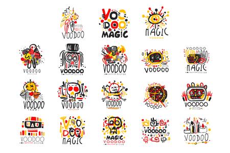 Ensemble de magie vaudou africaine et américaine Vecteurs