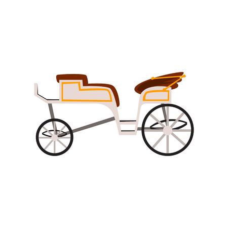 Voiture rétro, entraîneur de mariage, vecteur de véhicule antique Illustration isolé sur fond blanc. Vecteurs