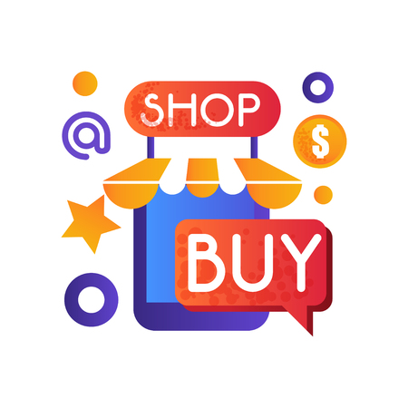 Online shop, internet shopping, e-commerce concept vector Illustration isolated on a white background.