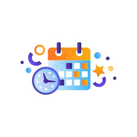 Business elements, schedule, management, finance, strategy, marketing symbols vector Illustration on a white background Illustration