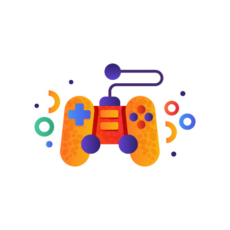 Video game controller, gamepad vector Illustration isolated on a white background. Ilustração