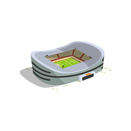 Stadium building, sports football, soccer arena vector Illustration isolated on a white background.