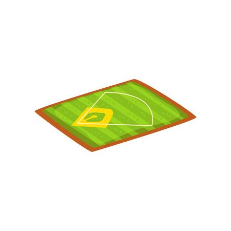 Baseball stadium, sports ground vector Illustration isolated on a white background. Illustration