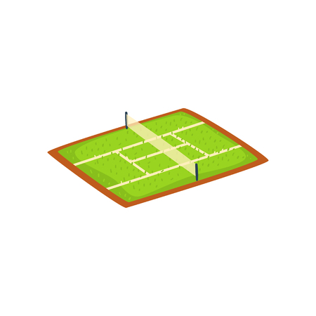 Tennis stadium, sports ground vector Illustration isolated on a white background.