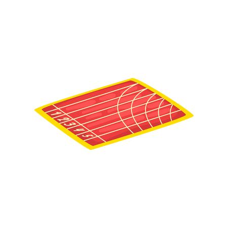 Athletic stadium, running track, sports ground vector Illustration isolated on a white background. Standard-Bild - 128162629