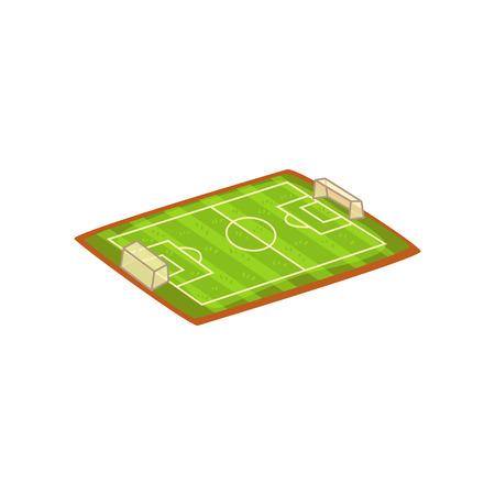 Football or soccer stadium, sports ground vector Illustration isolated on a white background. Standard-Bild - 128162631