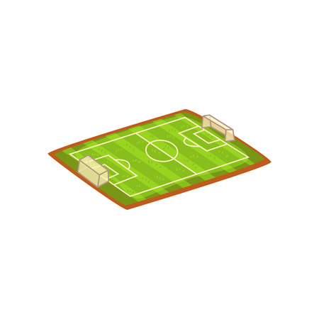 Football or soccer stadium, sports ground vector Illustration isolated on a white background. Illustration