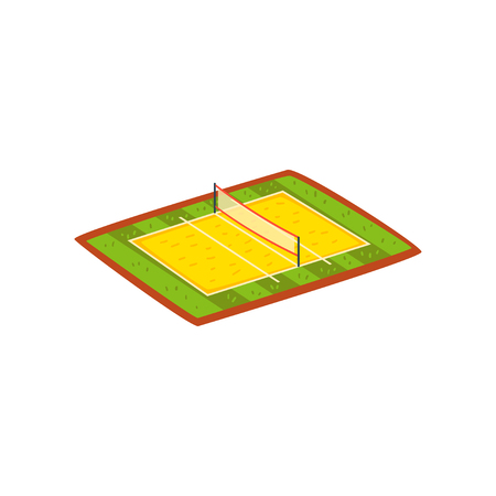Volleyball stadium, sports ground vector Illustration isolated on a white background.