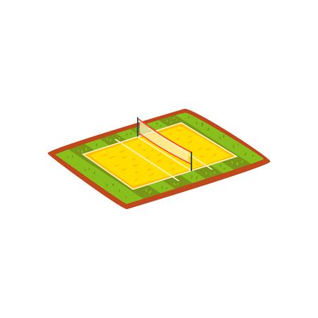 Volleyball stadium, sports ground vector Illustration isolated on a white background. Standard-Bild - 110129472