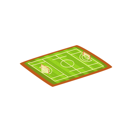 Football or soccer stadium, green sports ground vector Illustration isolated on a white background. Standard-Bild - 128162633