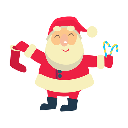 Merry christmas Vector Illustration of Santa Claus 写真素材 - 128162885