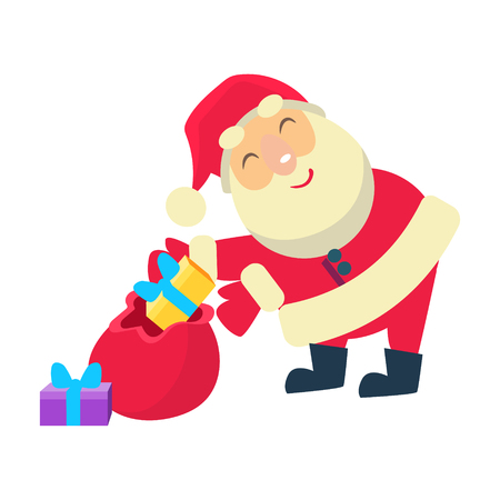 Merry christmas Vector Illustration of Santa Claus Illustration