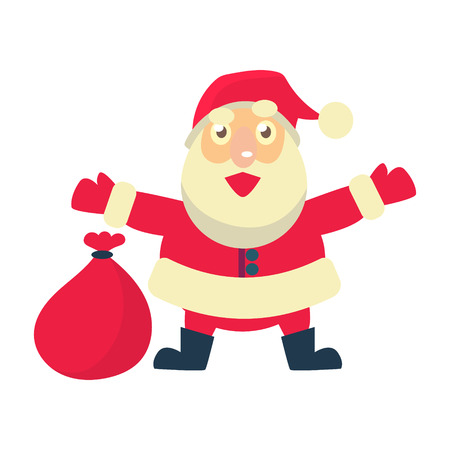 Merry christmas Vector Illustration of Santa Claus