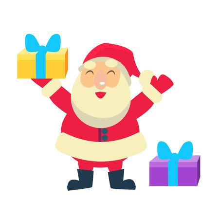 Merry christmas Vector Illustration of Santa Claus Illustration