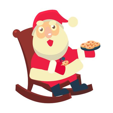 Merry christmas Vector Illustration of Santa Claus 向量圖像