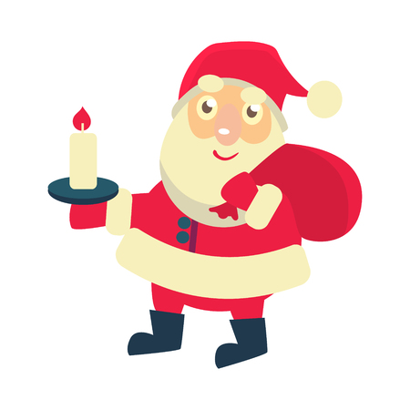 Merry christmas Vector Illustration of Santa Claus Иллюстрация