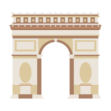 Vector Illustration of Arch of Triumph in flat design