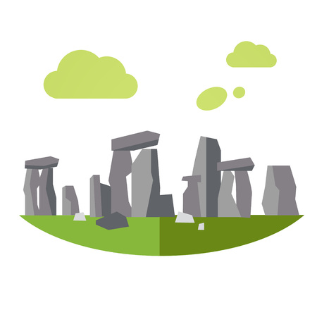 Vector Illustration of Stonehenge, flat style concept