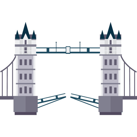 Vetor illustration of London Tower Bridge in flat style