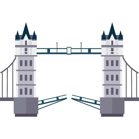 Vetor illustration of London Tower Bridge in flat style