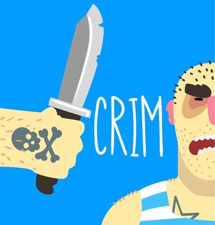 Social criminal problem poster banner template vector Illustration