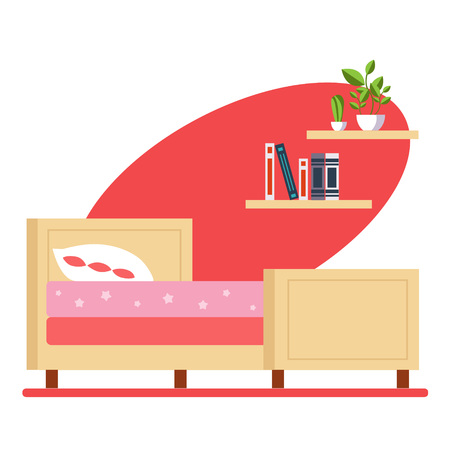 Kinderslaapkamer Vector Illustratie