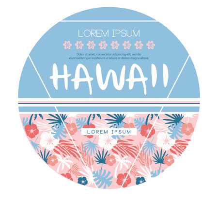 Hawaii country club. Vector print wear in custom colors Illustration