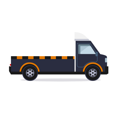 Truck for transportation faulty and emergency cars vector Illustration