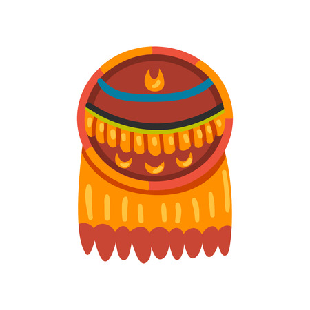 Maya civilization symbol, totem sign, American tribal culture element vector Illustration isolated on a white background.