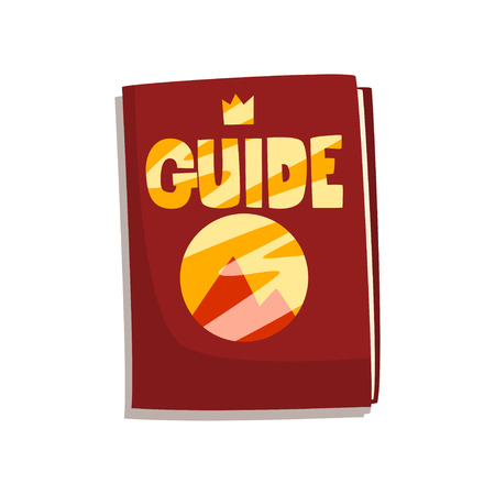 Fantasy fairytale game board guide book vector Illustration on a white background Illustration