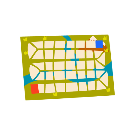 Board game map vector Illustration isolated on a white background. Ilustração