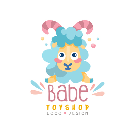 Babe toyship design, cute badge can be used for baby store, kids market vector Illustration on a white background Illustration