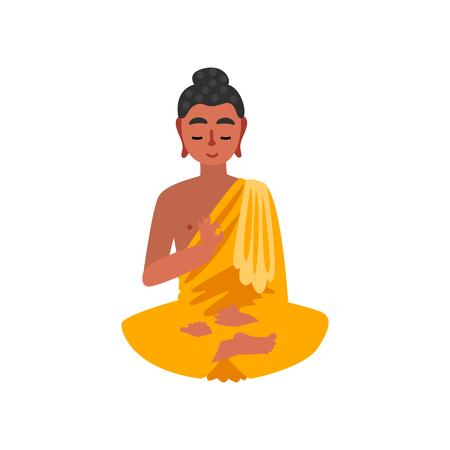 Sitting Buddha vector Illustration on a white background